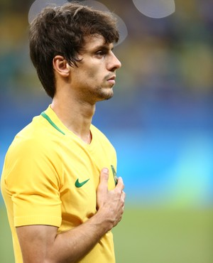 Zagueiro Rodrigo Caio Brasil x Dinamarca Olimpíada (Foto: Lucas Figueiredo/MoWA Press)