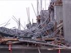 Rua e casas seguem interditadas após laje de obra desabar em Tubarão