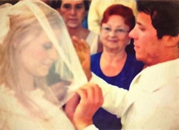 Carolina Dieckmann em seu casamento com Tiago Worcman (Foto: Reprodução/Instagram)