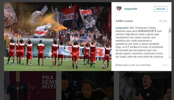 torcida São Paulo CT (Foto: reprodução instagram)