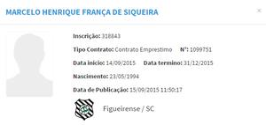 Marcelinho Figueirense (Foto: Reprodução/CBF)