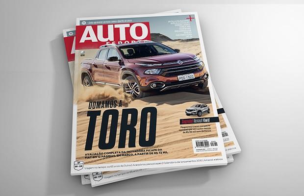Já aceleramos a picape Fiat Toro e a avaliação está na revista Autoesporte de fevereiro (Foto: Autoesporte)