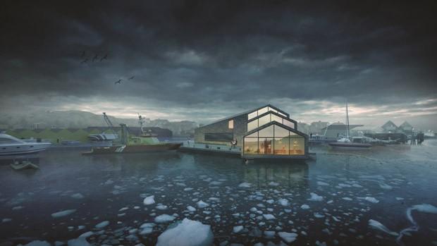 Projeto de escritórios em Roro, na Suécia, ganhou o prêmio Jeu d'Esprit. Ele mostra um escritório sustentável para a Sociedade Sueca de Resgate Marítimo (Foto: AR MIPIM Future Projects Awards)