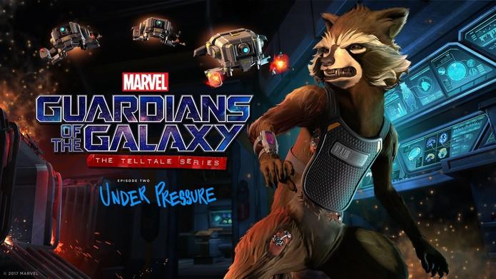 Rocket é uma das estrelas do episódio de Guardians of the Galaxy: The Telltale Series - Under Pressure (Foto: Divulgação/Telltale Games)