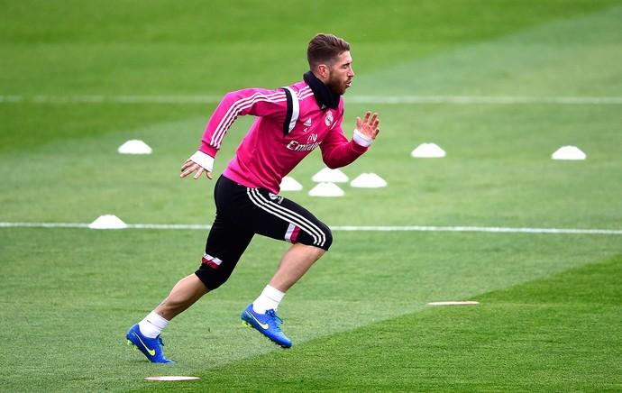 Sergio Ramos, Treino Real Madrid (Foto: Agência AFP)