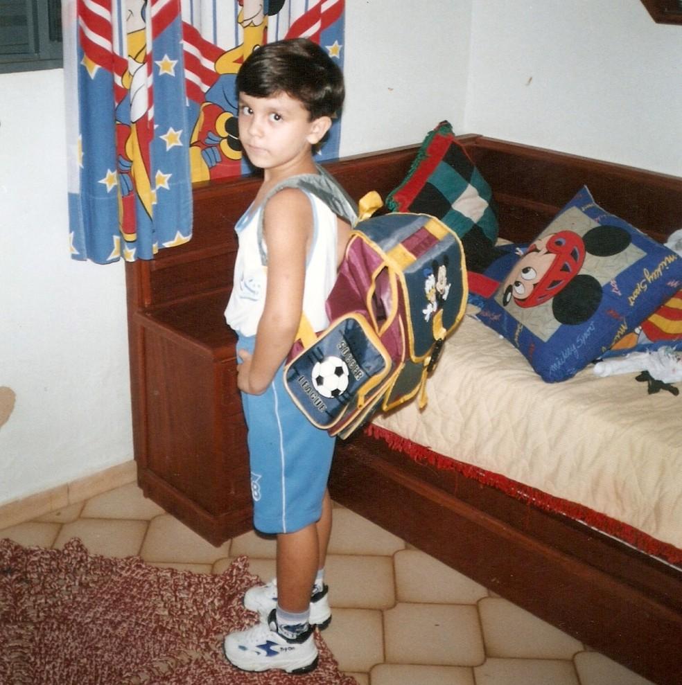 Luan pronto para ir para a escolinha (Foto: Arquivo Pessoal)