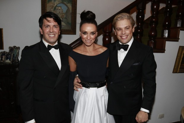 André Ramos, Suzana Pires e Bruno Chateaubriand (Foto: Fred Pontes/Divulgação)