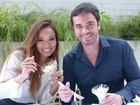 Nakamura e Sidney Sampaio degustam comidas para o cardápio do casamento