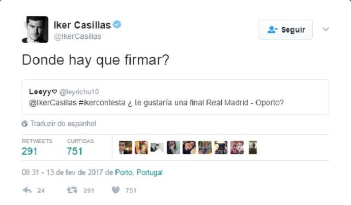 """BLOG: Casillas sobre final da Liga dos Campeões entre Real e Porto: """"Onde posso assinar?"""""""