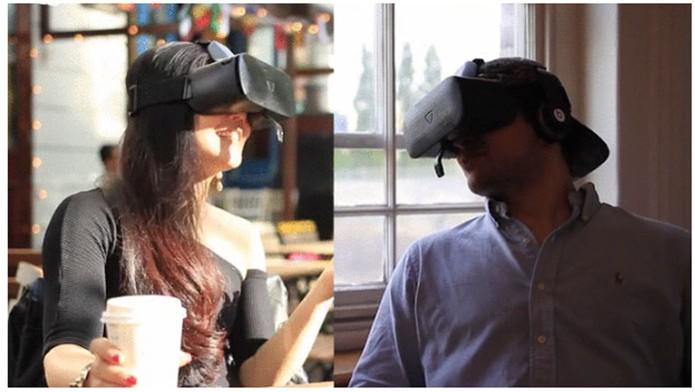 Headset Veeso permite capturar expressões faciais (Foto: Divulgação/Indiegogo)