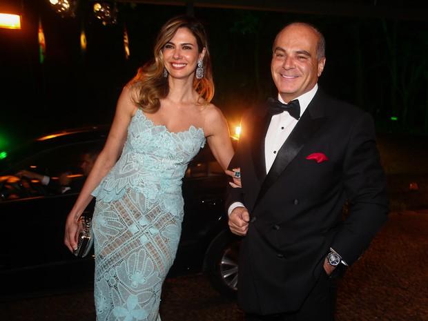 Luciana Gimenez com o marido, Marcelo de Carvalho, em evento em São Paulo (Foto: Manuela Scarpa/ Foto Rio News)