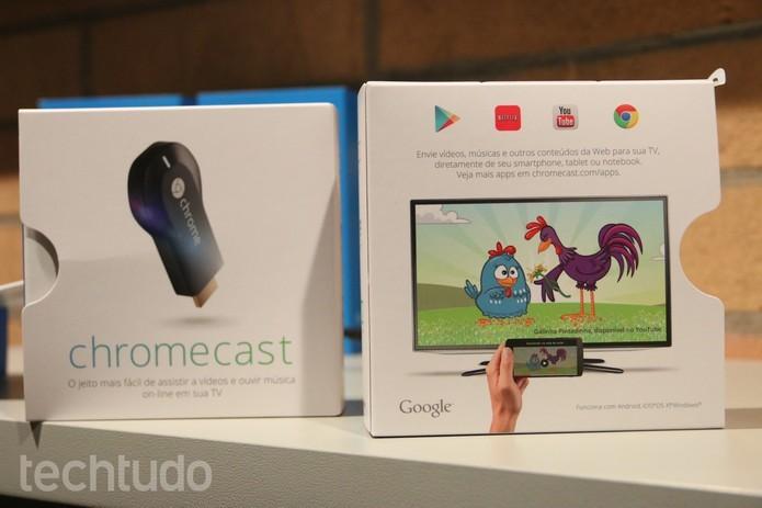Chromecast permite fazer o streaming pelo celular em TVs (Foto: Anna Kellen Bull/TechTudo) (Foto: Chromecast permite fazer o streaming pelo celular em TVs (Foto: Anna Kellen Bull/TechTudo))