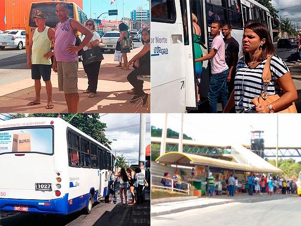 Salvador fica sem ônibus na manhã desta ônibus na manhã desta quarta-feira (16) (Foto: Arte/G1)