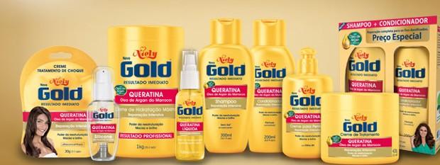 Linha Gold de produtos para cabelo da Niely Cosméticos  (Foto: Divulgação)