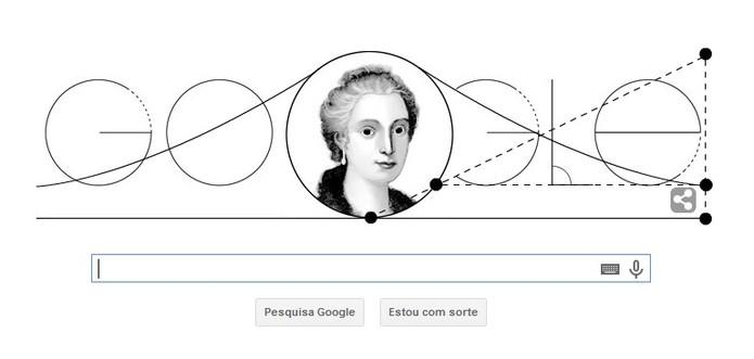 Curva de Agnesi ganha Doodle do Google animado (Foto: Reprodução/Google)