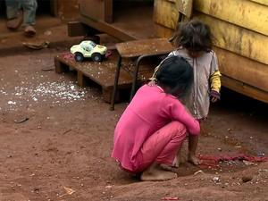 Tribo indígena Jaraguá tem cerca de 560 índios segundo a Funai (Foto: TV Globo/Reprodução)