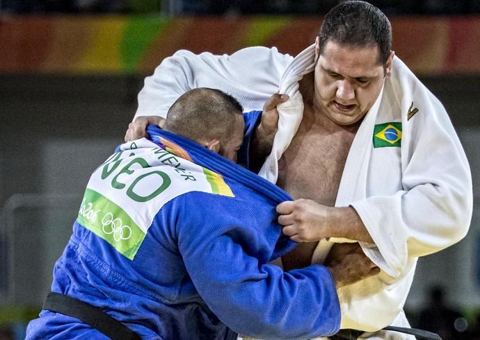 Rafael Silva x Roy Meyer, da Holanda, pela repescagem (Foto: Marcio Rodrigues/MPIX/CBJ)