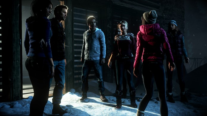 Until Dawn fez sucesso com seu enredo de filme de terror adolescente (Reprodução/All Games Beta)