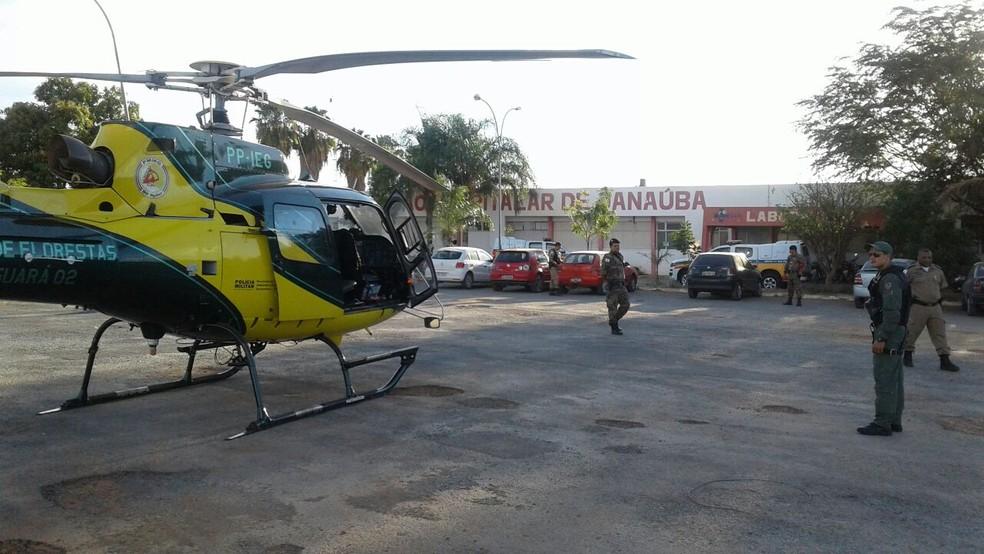 Policial Militar foi transportado de Janaúba para Montes Claros e já recebeu alta (Foto: 3ª CORPAER PM/Divulgação)