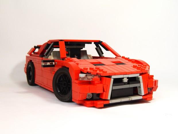 Mitsubishi Lancer criado com peças deLego (Foto: Arquivo Pessoal)