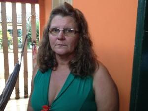 A avó Iranete Naitz acompanhou todo o trajeto do neto em Porto Velho (Foto: Camilo Estevam/G1)