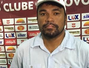 indio alagoano, treinador do Auto (Foto: Lucas Barros / GloboEsporte.com/pb)