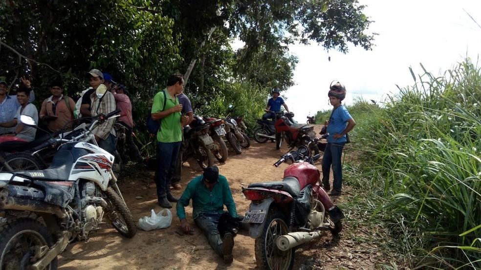 Grupo de resgate foi formado para entrar em floresta (Foto: WhatsApp/Reprodução)