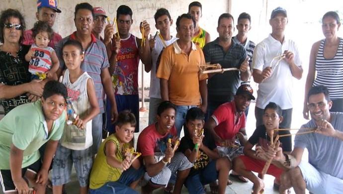 estilingue Uberaba campeonato Uberabense 2015 (Foto: Confederação Brasileira de Estilingue/ Divulgação)