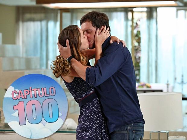 Laura e Caíque protagonizaram os beijos mais quentes de Alto Astral (Foto: Raphael Dias/Gshow)