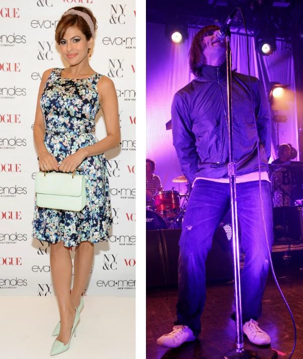 A atriz Eva Mendes e o cantor Liam Gallagher (Foto: Getty Images)