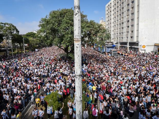 Público na Marcha para Jesus, em São Paulo (Foto: Flavio Moraes/G1)