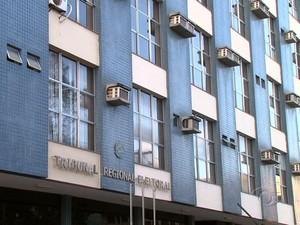 Prédio do TRE apresenta problemas estruturais, aponta laudo (Foto: Reprodução/TV Gazeta)