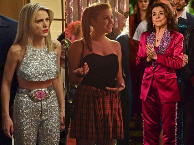 Brilho e glamour  na hora de ir para a Boggie Oogie! (Foto: Gshow)