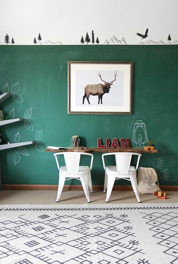 Décor do dia: quarto infantil com parede para escrever (Foto: reprodução)
