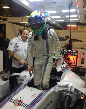 Agora Felipe Massa só voltará ao cockpit do FW37 da Williams no GP da Austrália (Foto: Divulgação)