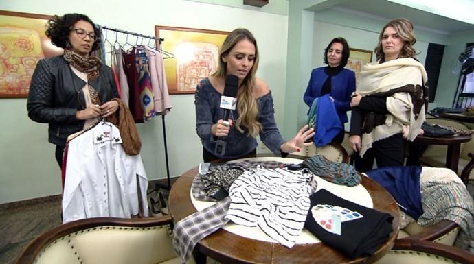 Aline Lima topou participar de um grupo que renova o guarda-roupa través das trocas (Foto: reprodução EPTV )