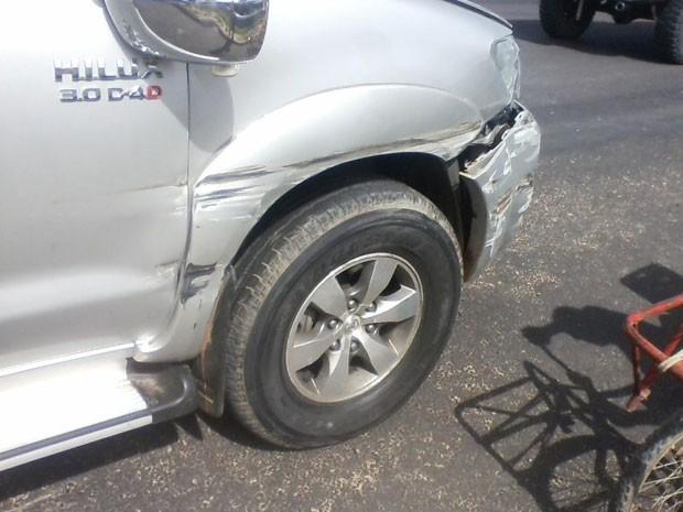 Acidente envolvendo carro de juíza (Foto: Jeorge Katatau/Arquivo Pessoal)