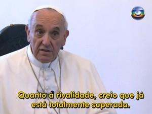 Papa rivalidade (Foto: Reprodução/TV Globo)