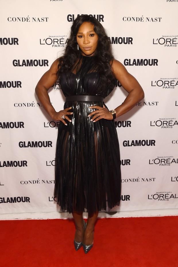 Serena Williams em premiação em Nova York, nos Estados Unidos (Foto: Larry Busacca/ Getty Images/ AFP)