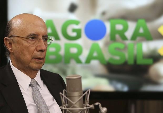 Ministro Henriques Meirelles fala no programa Agora Brasil (Foto: José Cruz/Agência Brasil)