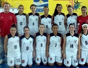 Seleção paraibana de basquete feminino sub-15 (Foto: Divulgação / CBB)