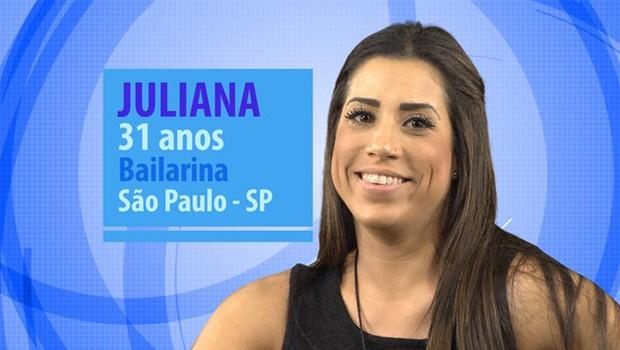 Juliana é bailarina e tem 31 anos (Foto: Globo/Divulgação)