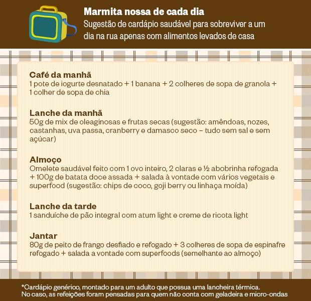 marmita saudável (Foto: Informações da nutricionista Alessandra Luglio (Imagem: Renato Tanigawa / ÉPOCA))