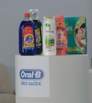 Produtos P&G da família de Andressa (Foto: Domingão do Faustão/TVGlobo)