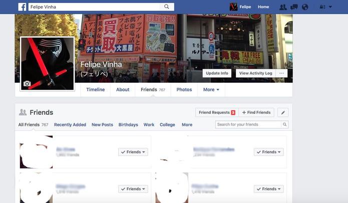 Organize seus amigos por grupos no Facebook (Foto: Reprodução/Felipe Vinha) (Foto: Organize seus amigos por grupos no Facebook (Foto: Reprodução/Felipe Vinha))