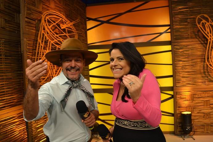 Shana Müller e Neto Fagundes no Galpão Crioulo  (Foto: Gabriela Haas/RBS TV)