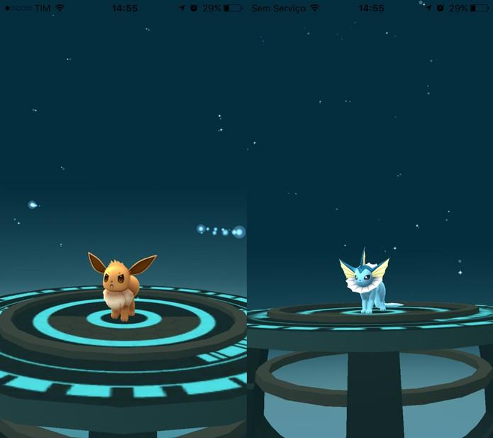 Veja como escolher a evolução do Eevee em Pokémon Go (Foto: Reprodução/Tais Carvalho)