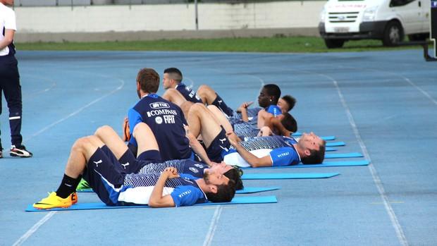 Treino Seleção da Itália, engenhão (Foto: Carlos Augusto Ferrari)