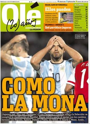 Olé capa jornal Argentina (Foto: Reprodução)