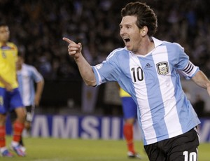 messi argentina x equador (Foto: EFE)